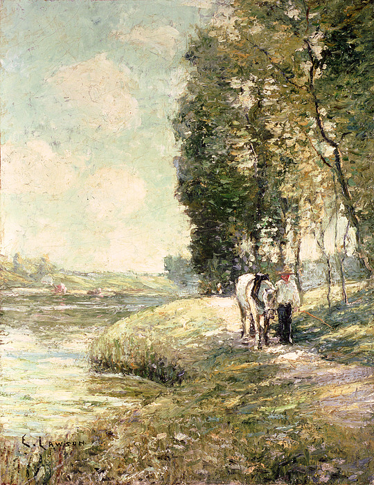 Country Road To Spuyten Painting - Country Road To Spuyten by Ernest Lawson