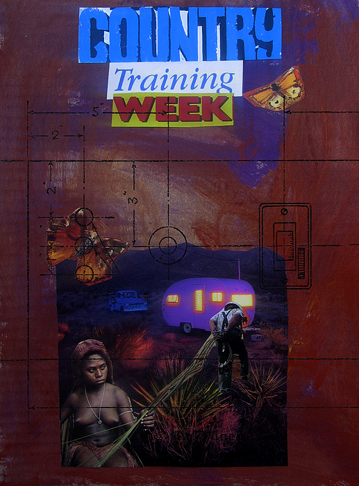 Collage Mixed Media - Country Training Week by Adam Kissel