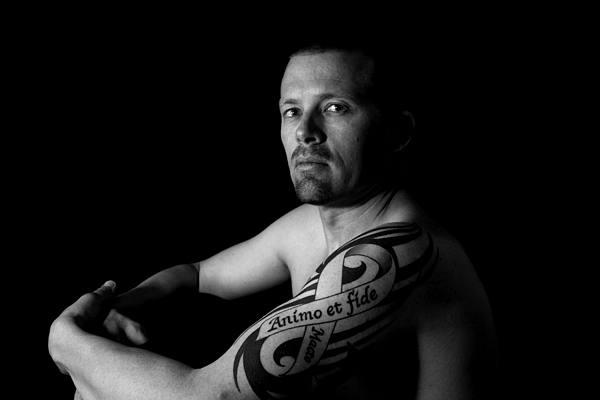 Tattoo Photograph - Courageously And Faithfully by MAriO VAllejO
