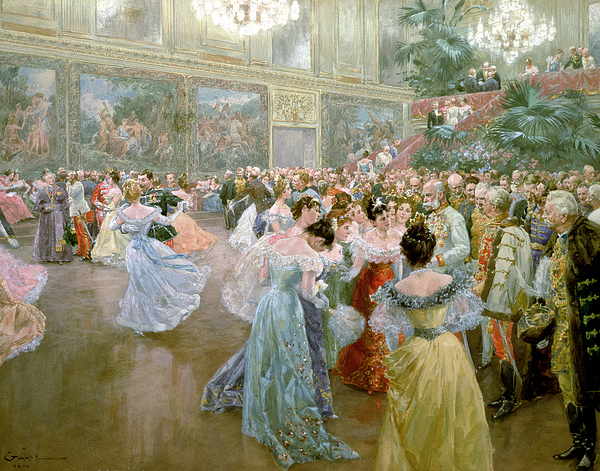 Dance Painting - Court Ball At The Hofburg by Wilhelm Gause