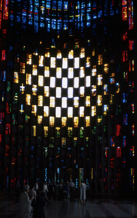 Coventry Photograph - Coventry Cathedral Stained Glass Window England by Richard Singleton