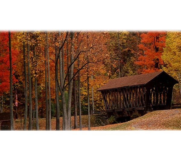 Autumn Photograph - Covered Bridge In Autumn by Lila Mattison