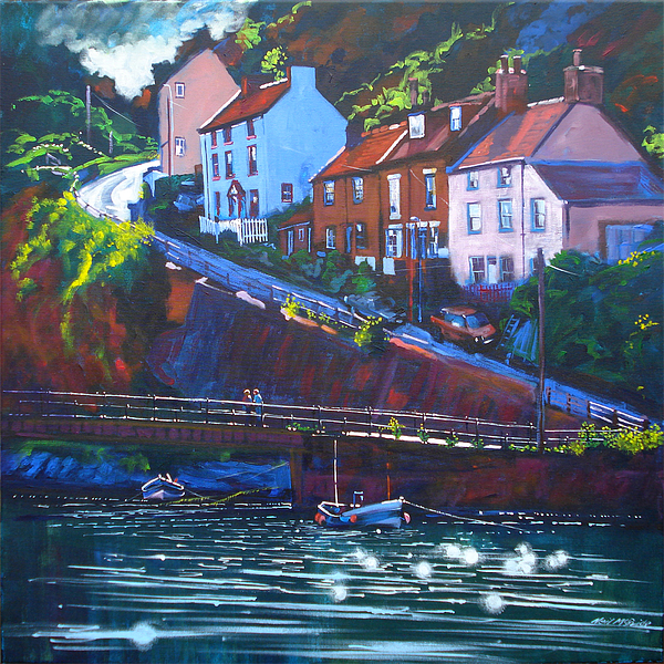 Beach Painting - Cowbar - Staithes by Neil McBride