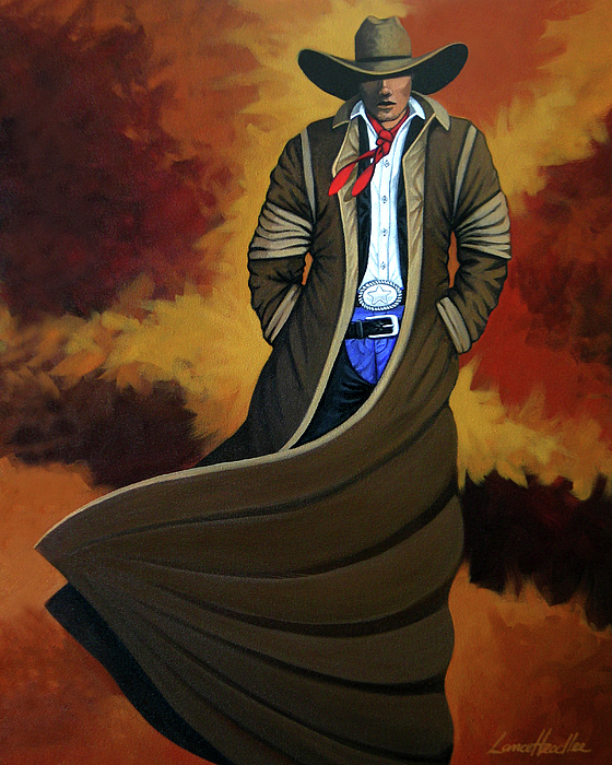 Cowgirl Painting - Cowboy Dust by Lance Headlee