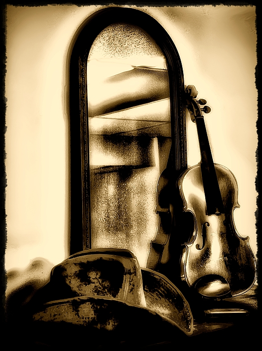 Cowboy Hat Photograph - Cowboy Hat And Fiddle by Bill Cannon