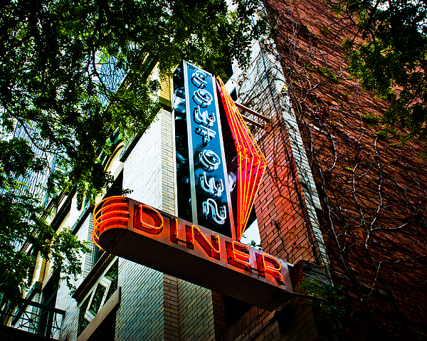 Plaza Hotel Photograph - Cowtown Diner by David Waldo