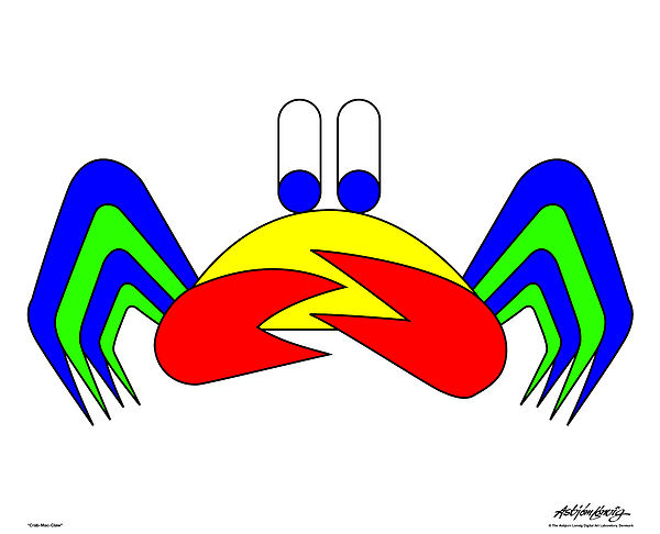 Crab-mac-claw Digital Art by Asbjorn Lonvig