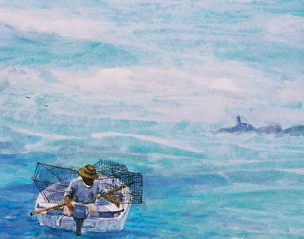Crab Traps Painting - Crab Traps by Ruth Mabee