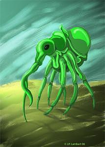 Fantasy Digital Art - Crabbage by J P Lambert