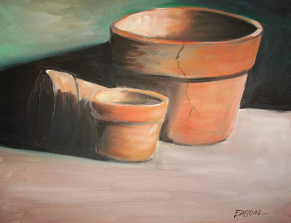 Cracked Pots Painting - Cracked Pots by Scott Easom