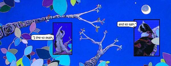 Crackers The Tree Cat Illustration I I Painting by Cameron Hampton P S A