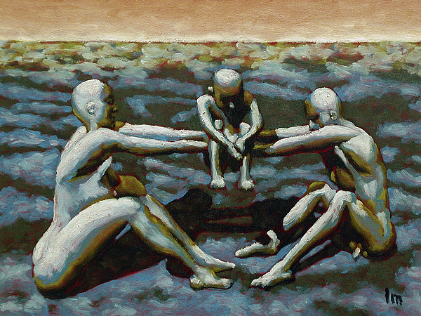 Oil Painting - Cradle by Leo Mazzeo