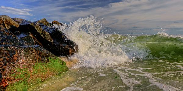 Atlantic Ocean Photograph - Crashing The Sky by David Hahn