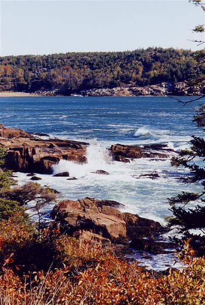 Maine Photograph - Crashing Waves On Maine by Kristina Scott