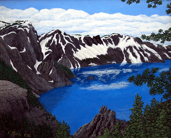 Artwork Painting - Crater Lake by Frederic Kohli
