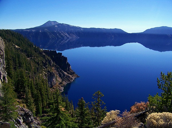 Crater Lake Photograph - Crater Lake by Terry Jones