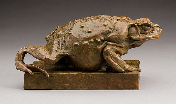 Sculpture Sculpture - Crawling Toad by Steve Worthington