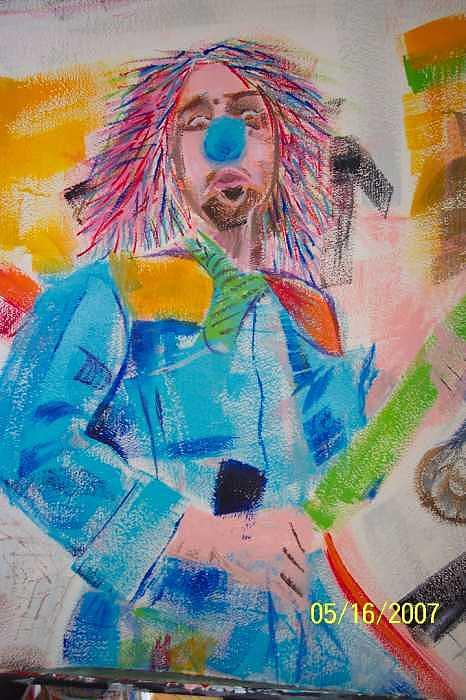 Clown Painting - Crazed Clown by Lori Tan