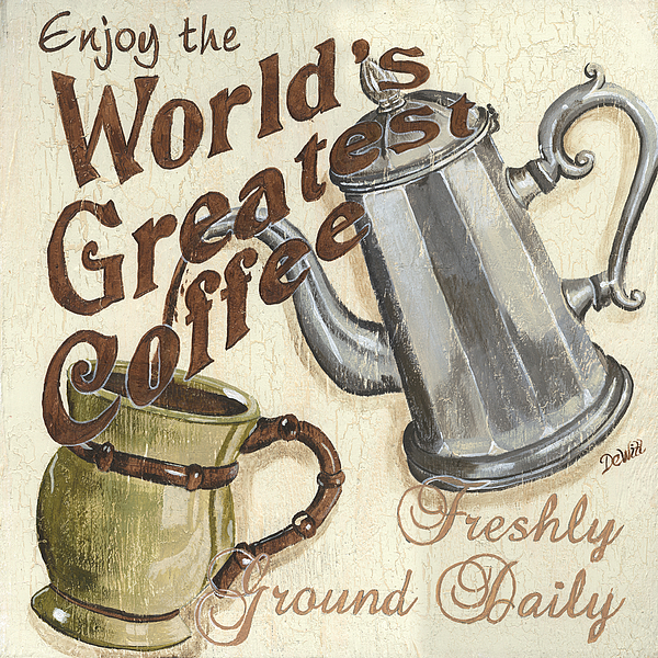 Coffee Painting - Cream Coffee 1 by Debbie DeWitt