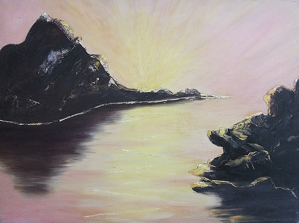 Rocks Painting - Creation by Suzanne  Marie Leclair