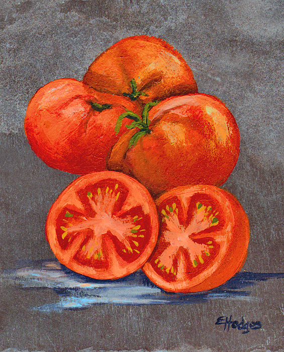 Tomatoes Painting - Creole Tomatoes by Elaine Hodges