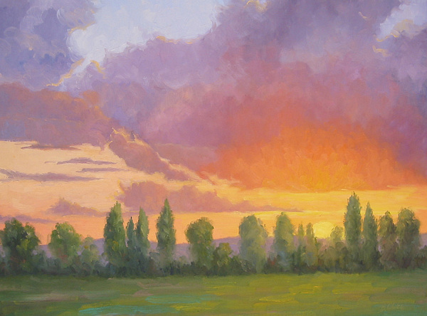 Sunset Painting - Crescendo by Bunny Oliver