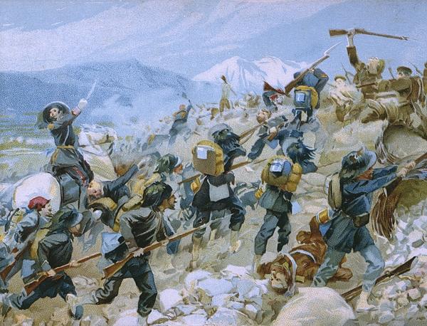 Italian Painting - Crimean War And The Battle Of Chernaya by Italian School