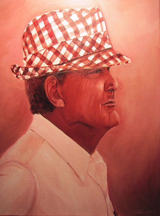 University Of Alabama Painting - Crimson Bear by Sheila Gunter