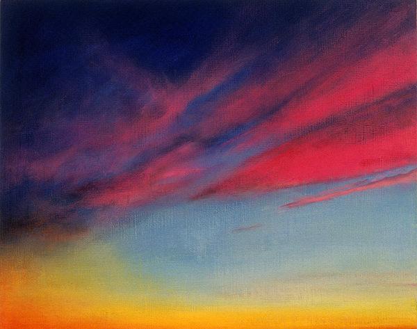 Cloud Painting - Crimson Sunset II by Ruth Sharton