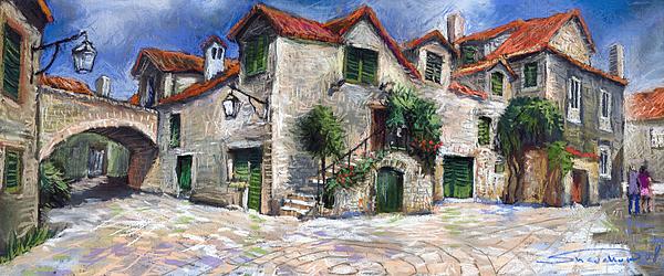 Croatia Painting - Croatia Dalmacia Square by Yuriy Shevchuk