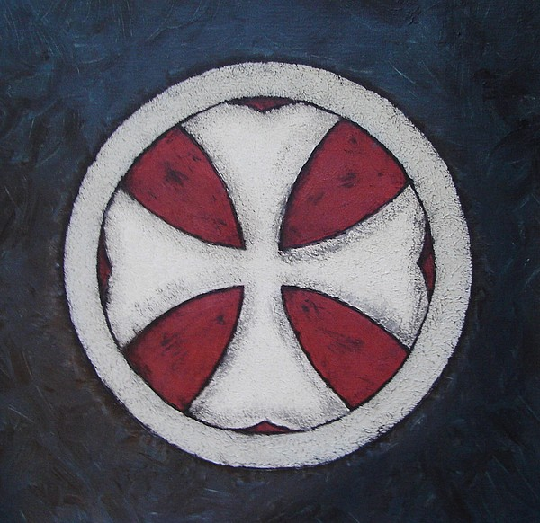 Cross Painting - Croix Patee by Bo Klinge