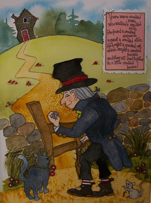 Crooked Man Painting - Crooked Man by Victoria Heryet