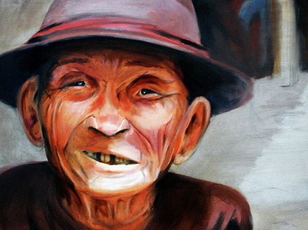 Crooked Smile Painting By Michael Whitlark