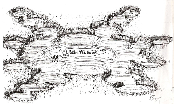 Crop Circles Drawing by Roger Swezey