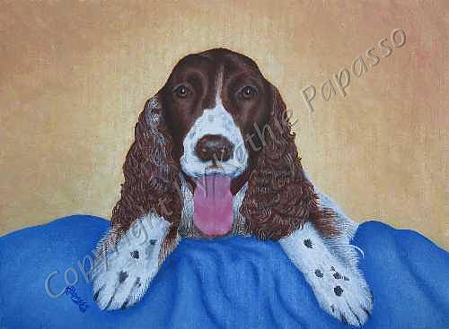 Dog Painting - Crosby by Kathie Papasso
