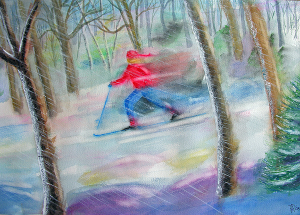 Paintings Painting - Cross Country Ski by Robert P Hedden