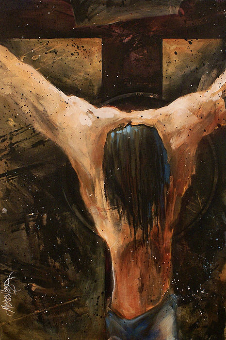Crucifix Painting - Cross by Michael Lang