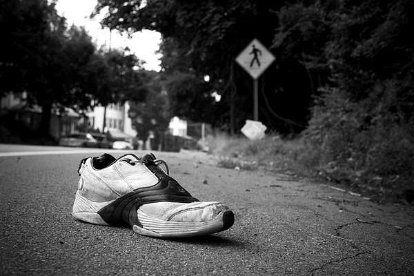 Shoe Photograph - Crossed by Kevin Brett