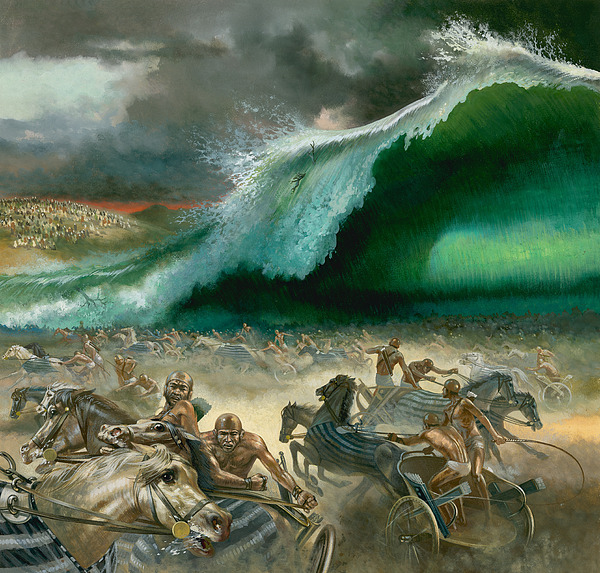 Crossing Painting - Crossing The Red Sea by Anonymous