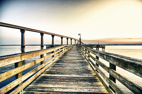 Fishing Pier Photograph - Crossing The River  by Kelly Reber