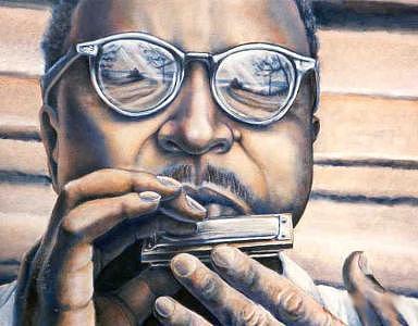 Blues Music Painting - Crossroads 2 by Brett Caplinger