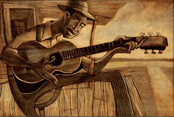 Robert Johnson Painting - Crossroads by Sean Hagan