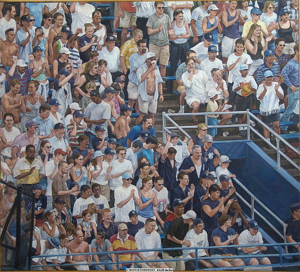 Human Landscape Painting - Crowd Emotion by James Sparks