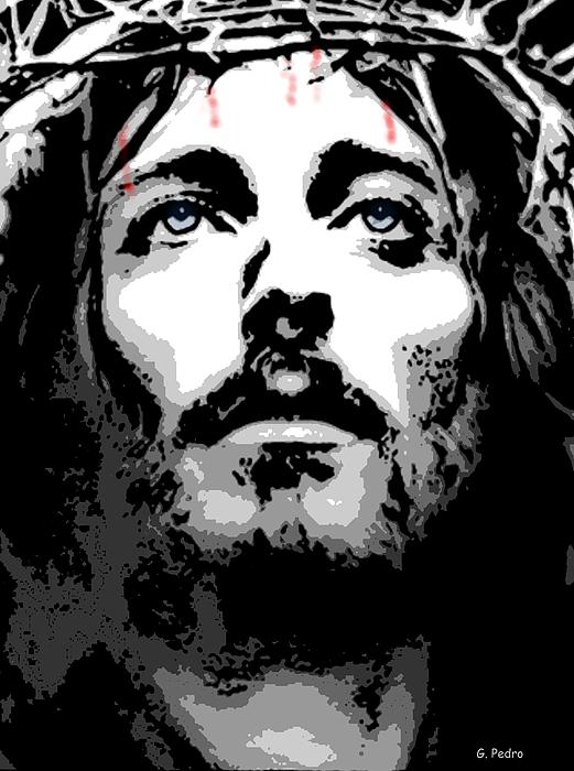 Jesus Drawing - Crown Of Thorns by George Pedro