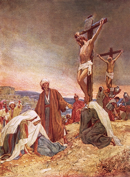 Bible; Jesus Christ; Crucifixion ;death; Weeping; Roman Soldiers Painting - Crucifixion by William Brassey Hole