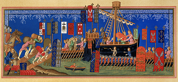 Aod Painting - Crusades 14th Century by Granger