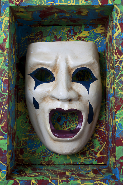 Crying Photograph - Crying Mask In Box by Garry Gay