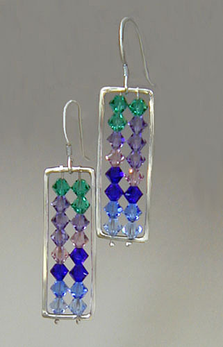 Custom Jewelry - Crystal Abacus Earrings by Barbara Otterson
