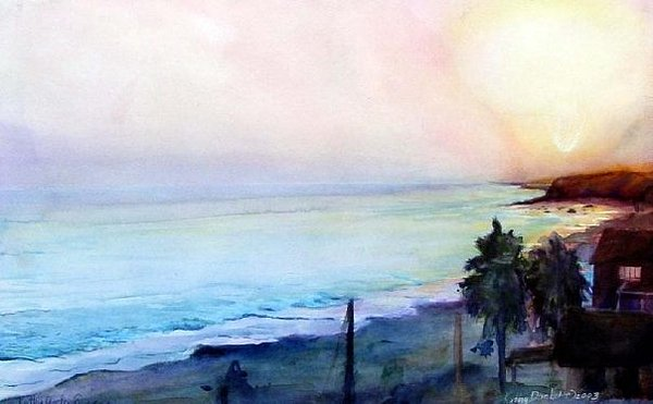 Crystal Cove Painting by Kathy Dueker
