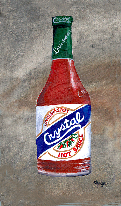 Hot Painting - Crystal Hot Sauce by Elaine Hodges